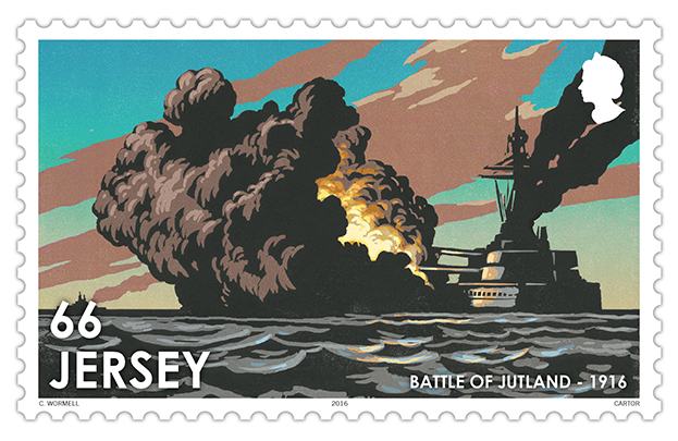 Chris Wormell's WW1 stamps for Jersey Post out now!
