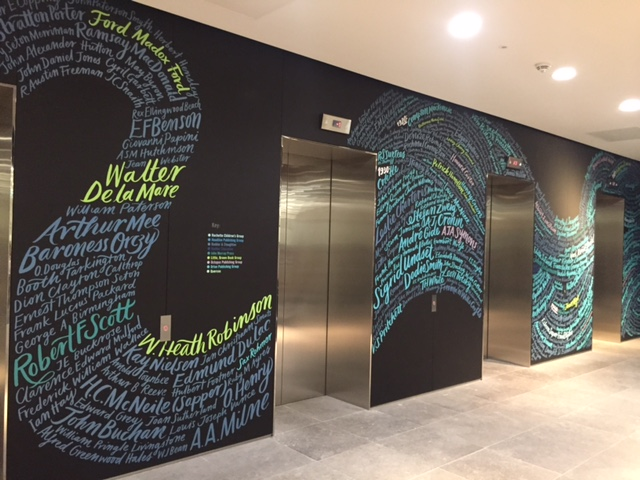 Kate Forrester's incredible Author Mural with The Graphic History co. for Hachette UK