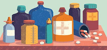 Lucy Rose's lovely warm illustrations for Johns Hopkins Health Review