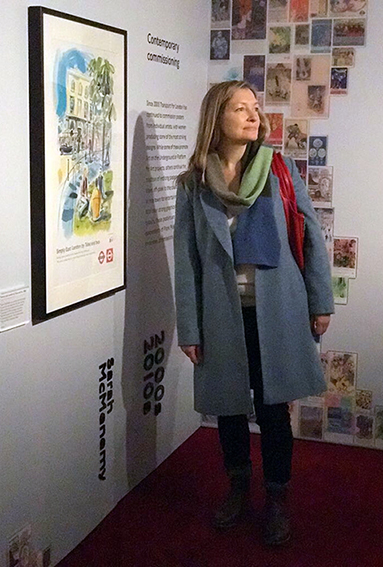 Sarah McMenemy is part of the wonderful Poster Girl Exhibit at the London Transport Museum
