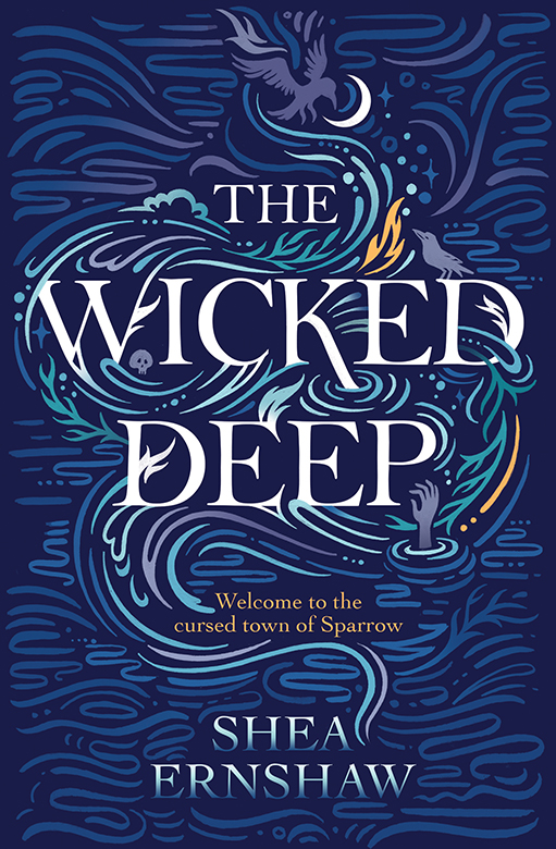 Kate Forrester's striking new book cover for 'The Wicked Deep'