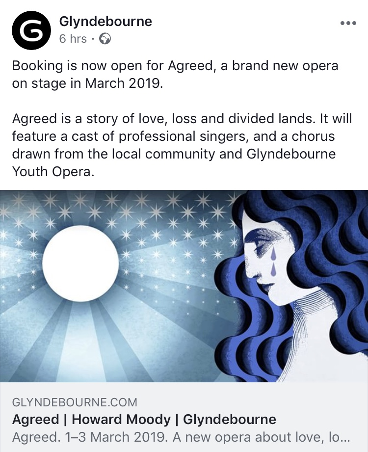 The Glyndebourne commissions Katie Ponder to illustrate an image for their new opera, Agreed