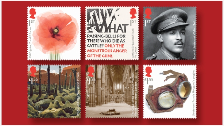 Andrew Davidson designs a commemorative stamp to mark the centenary of the Great War