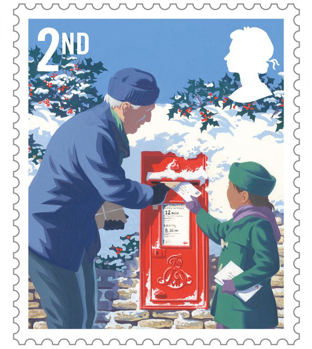 Royal Mail commissions Andrew Davidson to design six seasonal Christmas stamps