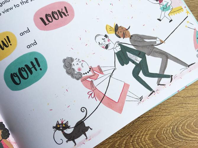 Rachel Saunders launches a Boom! Bang! Royal Meringue! draw-along!