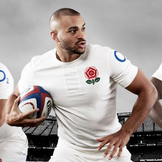 Chris Wormell recreates the English Rugby Union Rose for the 150th anniversary kit!