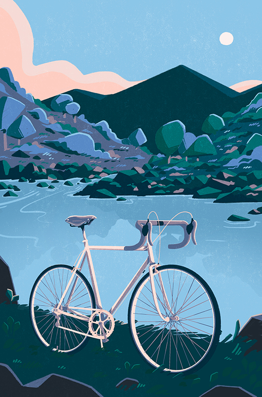 """Harry Goldhawk's illustrations are bound to inspire a """"Cycling Revolution"""", published by Michael O'Mara!"""