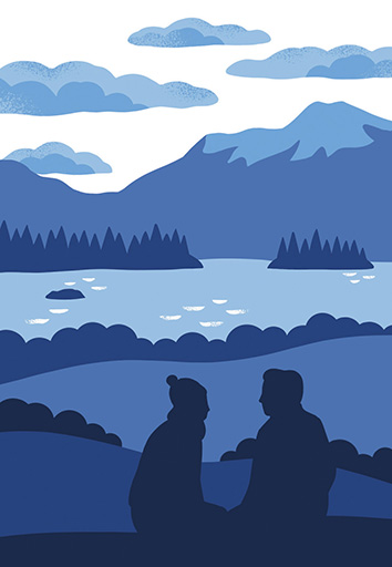 Lucy Davey illustrates walking guides of Scotland for Pocket Mountains Ltd.
