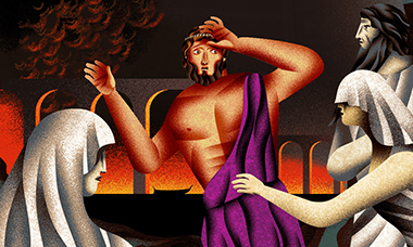 Jesús Sotés illustrates the Odyssey as a series of puzzles for Laurence King Publishing.